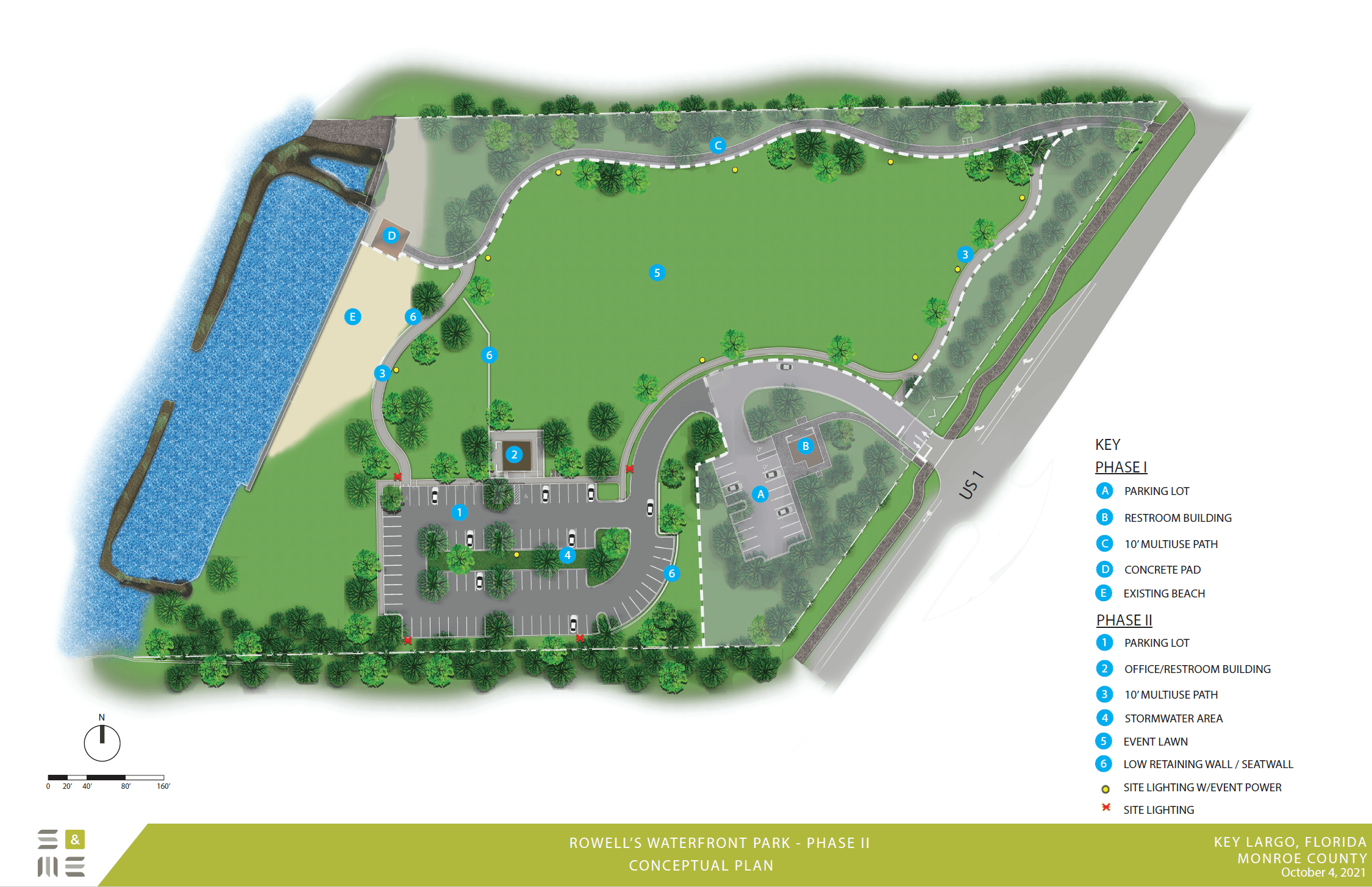 Rowell's Waterfront Park Conceptual Drawing June 2019
