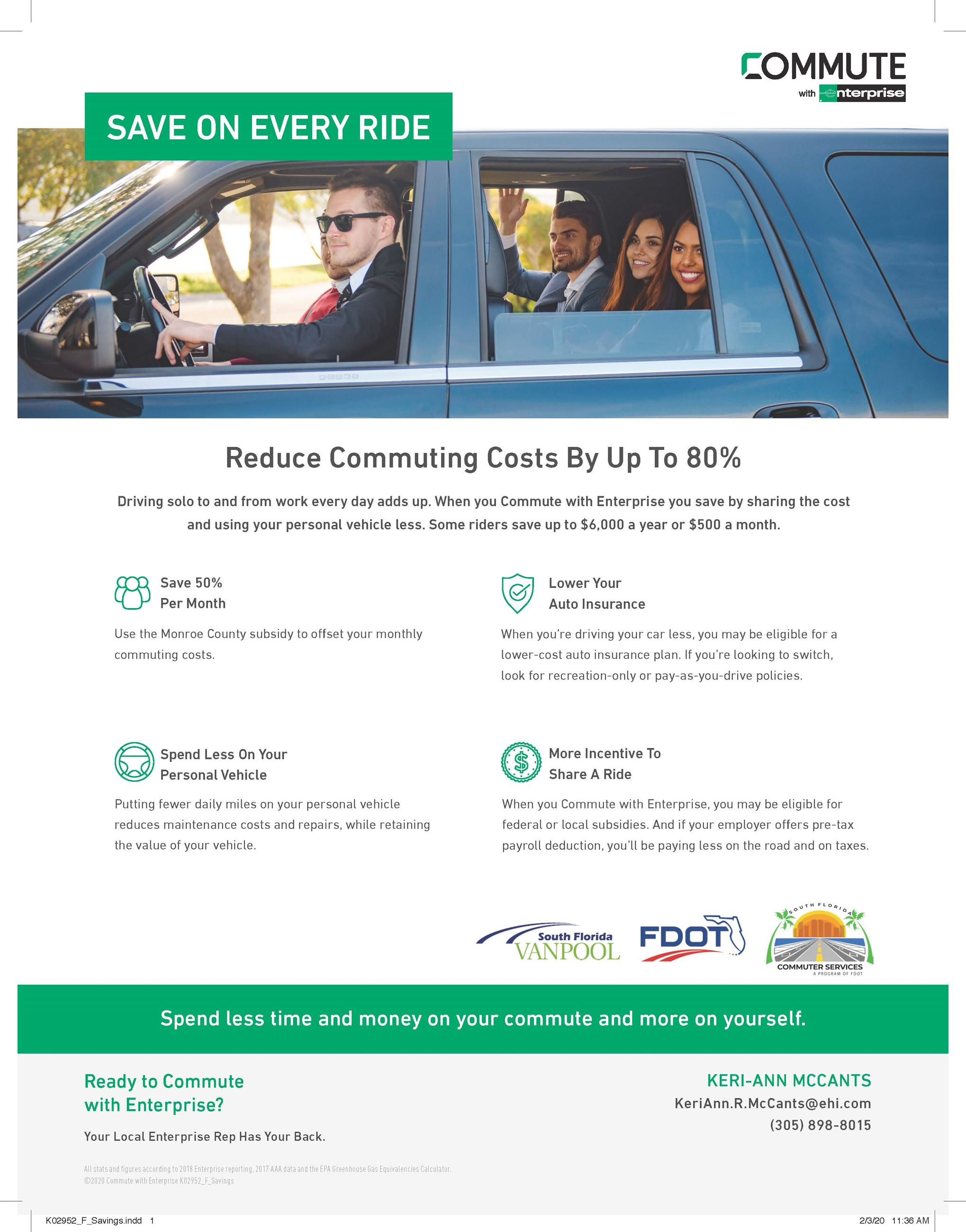 Florida Keys Savings Carpool Information